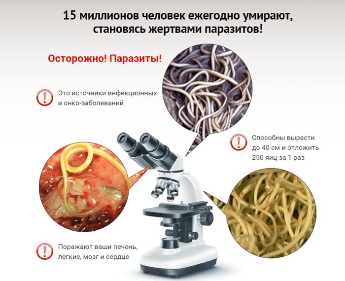 лечение против паразитов