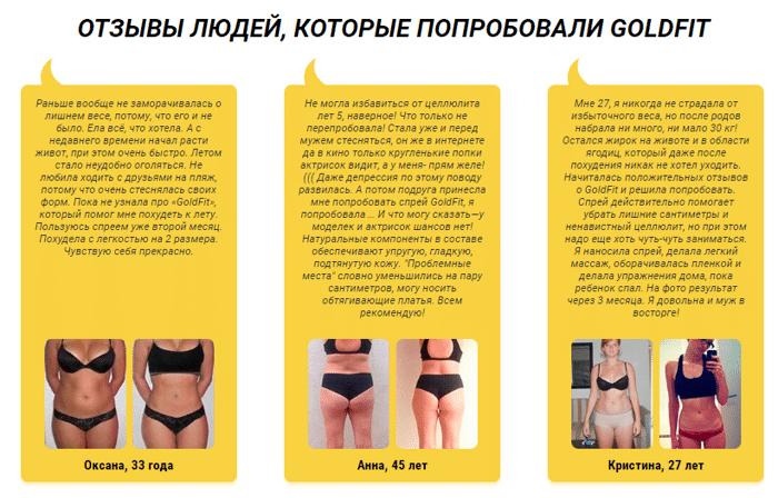 «GoldFit» спрей для похудения