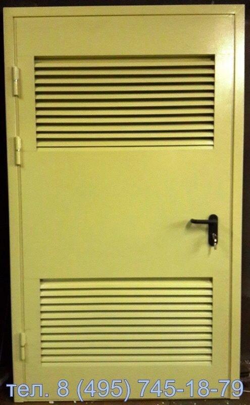 металлические двери с жалюзийными решётками