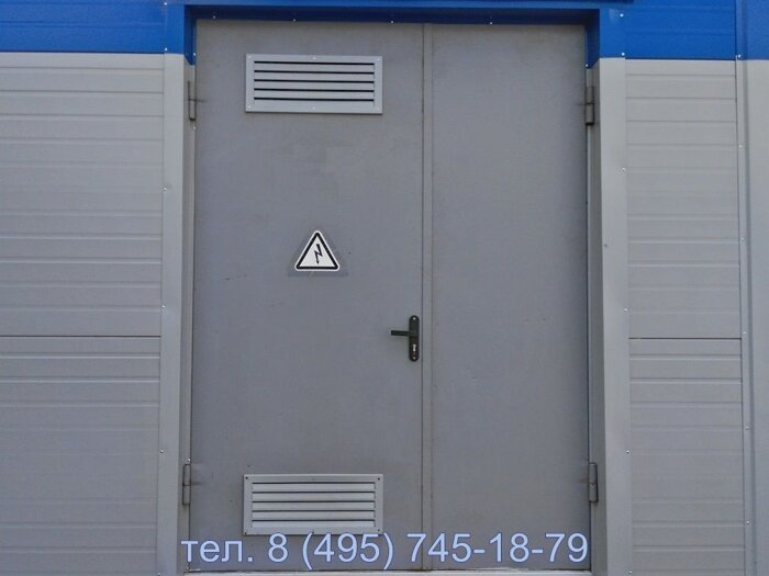 двери металлические с жалюзийной решеткой для технических помещений