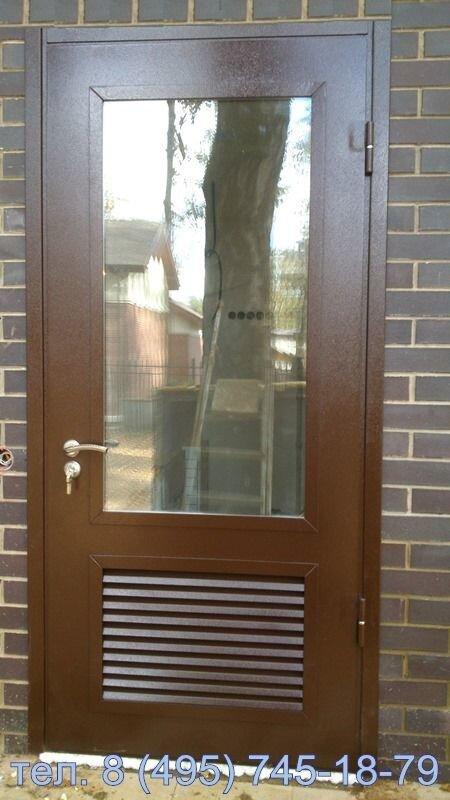 двери металлические с полимерным покрытием двухстворчатые входная в подъезд