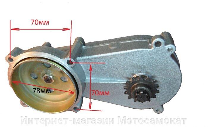 редуктор лодочного мотора из мотокосы