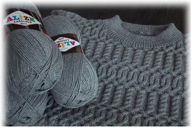 Пряжа для вязания свитера какая должна быть 16