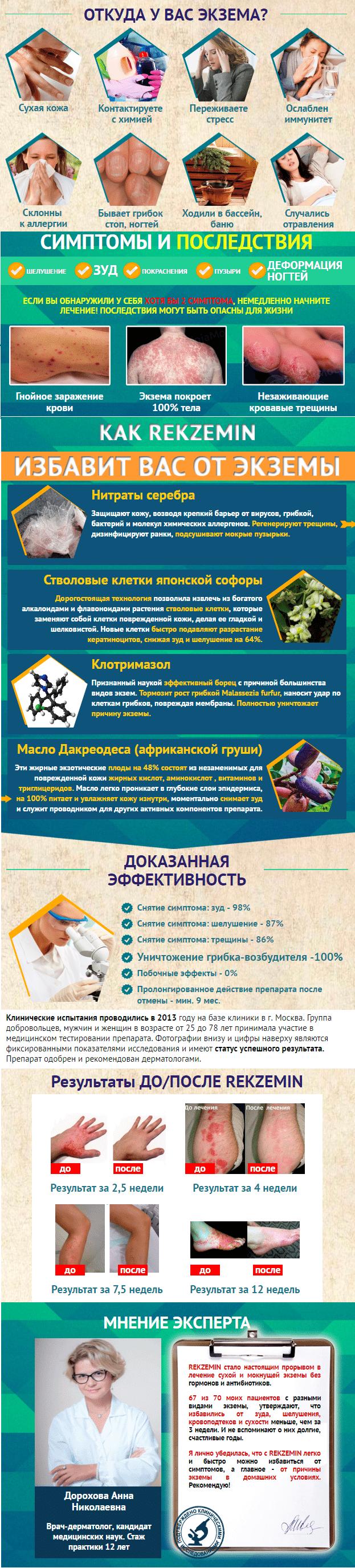 Rekzemin (Рекземин) от экземы и псориаза купить