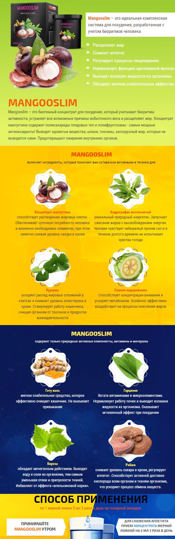 Mangosteen Slim (Мангостин Слим) сироп мангустина для похудения купить