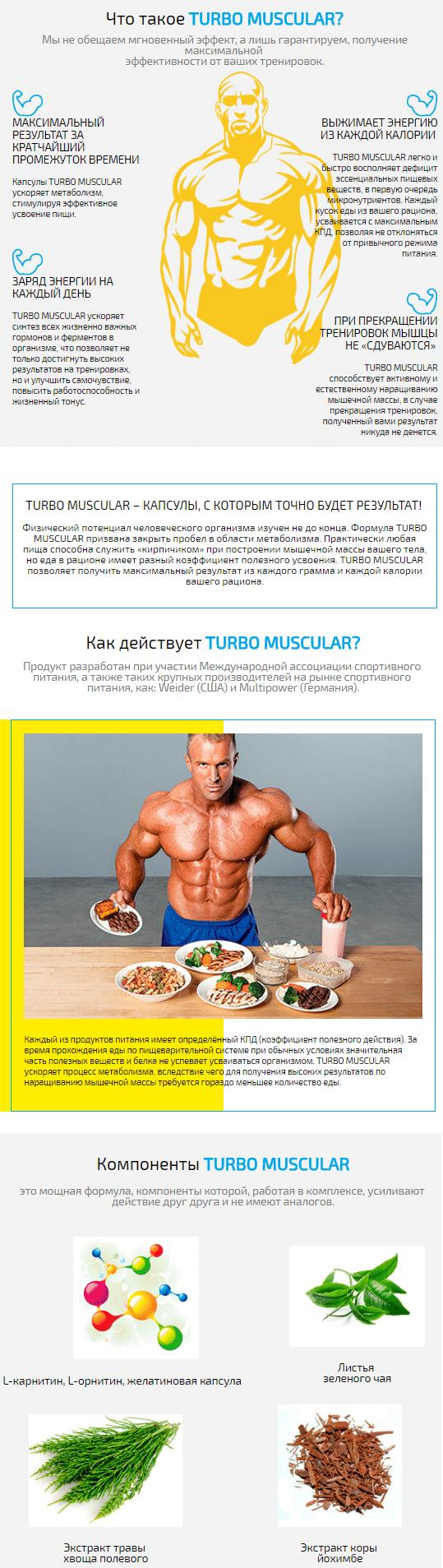 Капсулы с гормоном для роста мышц TurboMuscular купить
