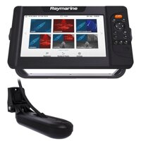 "Raymarine Element 9 HV - 9"" Chart Plotter with CHIRP Sonar, HyperVision, Wi-Fi, GPS, HV-100 transducer, No Chart"