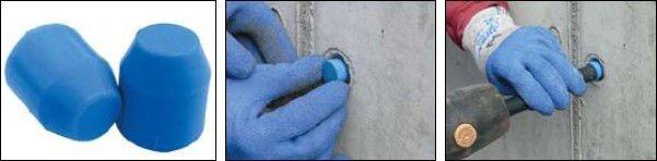 герметизация отверстий в бетоне