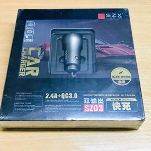 АЗУ SZX Car Charger 2USB 2.4A+QC3.0 SZ03