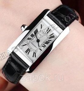 Часы Cartier Tank AMÉRICAINE SS Best Edition White Dial 19 mm