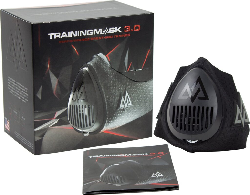 "Спортивная анаэробная маска Training Mask 3.0 размер L для кроссфита, mma, боксеров, бега, фитнеса ##от компании## Интернет-магазин ""Спорттовары24"" - ##фото## 1"