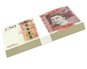 Сувенирные деньги 50 фунтов стерлингов