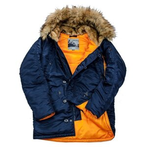 Куртка аляска мужская с натуральным мехом Husky Nord Denali (rep. blue/orange)